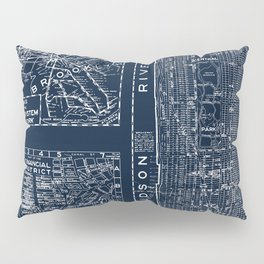 Vintage New York City Street Map Pillow Sham