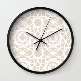 Palm Springs Macrame Lattice Lace Wall Clock