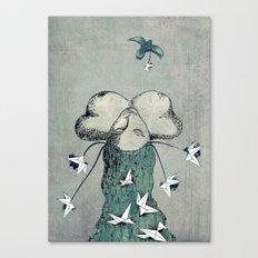 Origami's passion -  a collaboration between Christelle Guilhen and Gwenola de Muralt Canvas Print