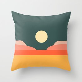 Geometric Landscape 14 Throw Pillow