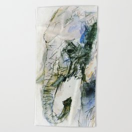 Elephant Queen Beach Towel
