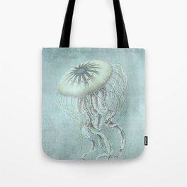 Jellyfish Underwater Aqua Turquoise Art Tote Bag