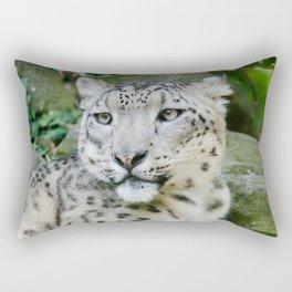 Snow Leopard stare Rectangular Pillow