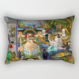 In the Chamber of the Lord Rectangular Pillow