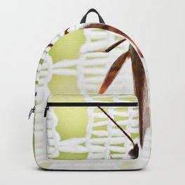 Grasshopper in lace curtain Backpack