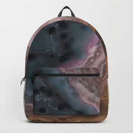 Multi-colored Agate slice Backpack