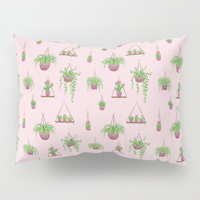 Mother, Macramé I? - Hanging Plants on Pink Pillow Sham