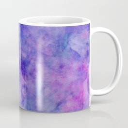 Purple Pink and Blue Bright Marble Watercolor Texture Coffee Mug