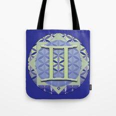 Flower of Life GEMINI Astrology Design Tote Bag