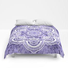 Mandala Lavender Colorburst Comforters