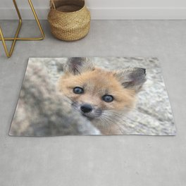 Watercolor Fox, Red Fox 28, Union Reservoir, Boulder Rug