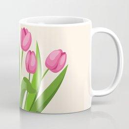 pink tulips in the pot Coffee Mug