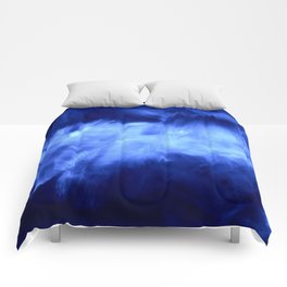 Ultraviolet Purple Lavender White Abstract Brush Strokes Comforters