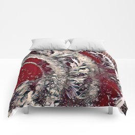 Got Frost Red Silver by CheyAnne Sexton Comforters