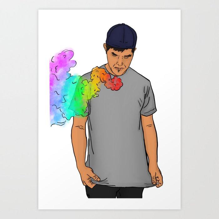 Rainbow Blitz Art Print