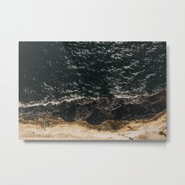 Sea from bird view in Napoli | Italy | Travel photography | Art photo print Metal Print