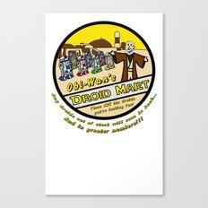 Obi-Wan's Droid Mart Canvas Print