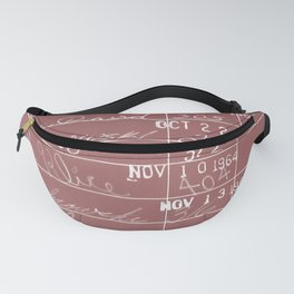 Library Card 23322 Negative Red Fanny Pack