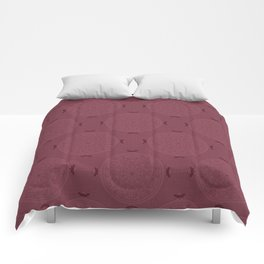 Rasberry Rosette Lace Comforters