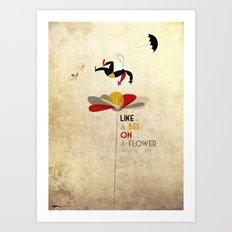 Like a bee on a flower Art Print