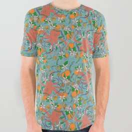 Citrus Octo All Over Graphic Tee