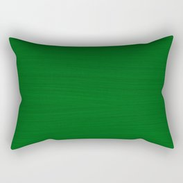 Emerald Green Brush Texture - Solid Color Rectangular Pillow