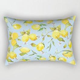 Watercolor lemons 10 Rectangular Pillow