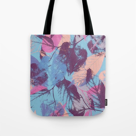 Colorful abstract leaves 1 Tote Bag