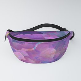 Purple, teal and blue abstract watercolor clouds Fanny Pack