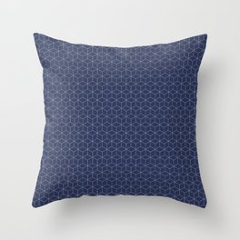 Sashiko stitching indigo pattern 1 Throw Pillow