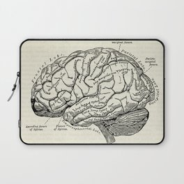 Vintage medical illustration of the human brain Laptop Sleeve