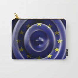 European flag waving - Top view Carry-All Pouch