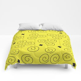 Abstract Graphic Sunny Day Comforters