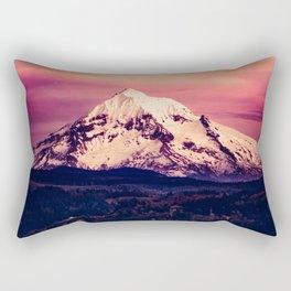 Mt Hood Mountain with Snow Rectangular Pillow