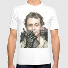 Bill Murray as Peter Venkman from Ghostbusters White MEDIUM Mens Fitted Tee