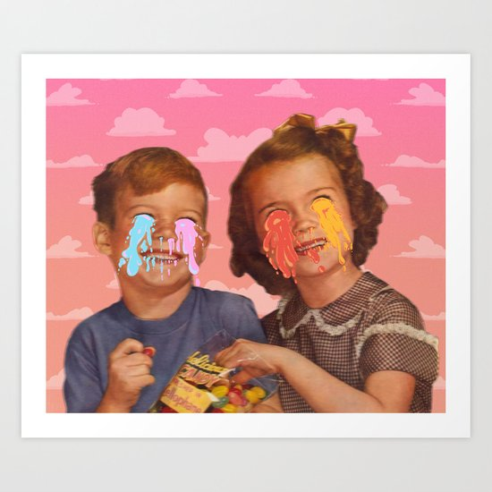 Delicious Candy Art Print