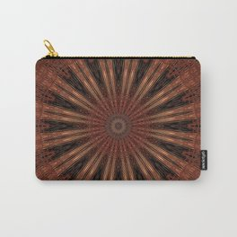 Rust Brown Bohemian Mandala Carry-All Pouch