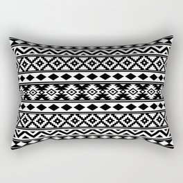 Aztec Essence IIIb Ptn White & Black Rectangular Pillow