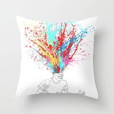 Scream Redux Throw Pillow