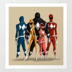 Power Rangers Art Print