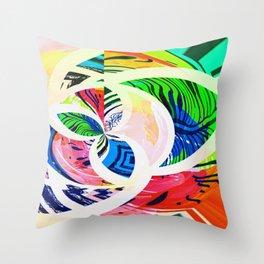 Bright Botanical Swirls Abstract Design Throw Pillow