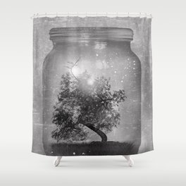 Black and White - Saving Nature Shower Curtain
