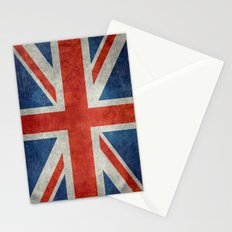 Square Union Jack retro style, made for the Pillows, Duvets and Shower curtains Stationery Cards