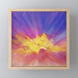 Just sunrise - pastel landscape Framed Mini Art Print