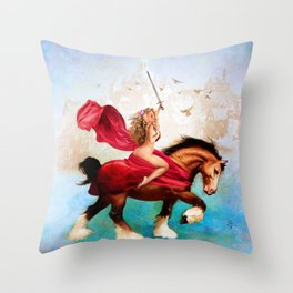 Godiva Throw Pillow