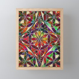 Flower of Life variation Framed Mini Art Print