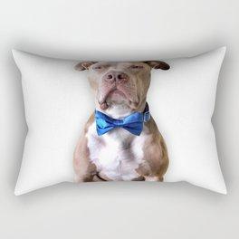 Bean in a bowtie Rectangular Pillow