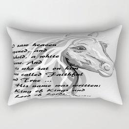 White Horse of a King Rectangular Pillow