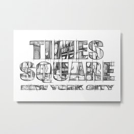 Times Square New York City (sketch) Metal Print