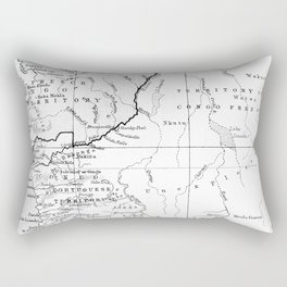 Black And White Vintage Map Of Africa Rectangular Pillow